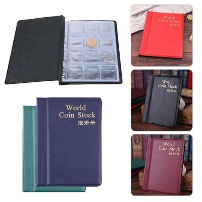 Collection Storage Money  Album Book Collecting 120 Coin Holders A+