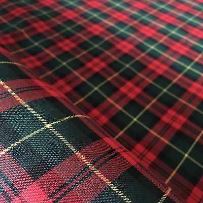 Polyviscose Tartan Fabric Christmas Plaid Red And Green 1 4 Metre Increments