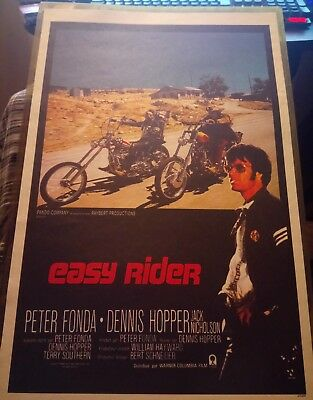 Easy Rider Peter Fonda Original Authentic Movie Poster from 1969 MP499 in Sleeve