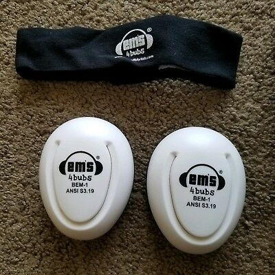 Em's 4 Bubs Adjustable Infant Baby Hearing Protection Earmuffs Headphones