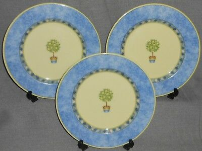 1999 Set (3) Royal Doutlon CARMINA PATTERN Salad Plates LEMON TREE