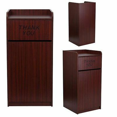 Restaurant Trash Can Tray Top Flip With Lid Large Garbage Waste Receptacle Bin
