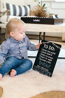 Chalkboard Pearhead Big Sibling Announcement Board for Baby Arriving