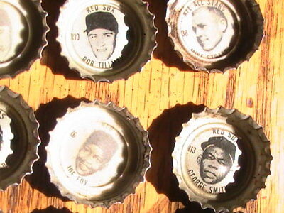 BOTTLE CAPS 1967 Coke 13 Boston Red Sox AND OTHERS