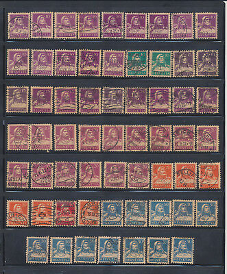 Switzerland William Tell & Son 3 Pages For Cancels And Color 154 Stamps!