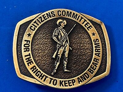Vintage Belt Buckle NRA Citizens Committee For The Right To Keep Bear Arms A82
