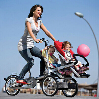3 in1 Portable Baby Bike Stroller Mother Folding Carrier 3 Wheels tricycle US