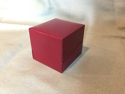 12 High Quality Leatherette Jewelry Finger Ring Box BLACK