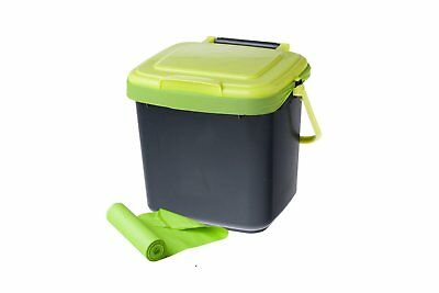 7 Litre Maze Kitchen Bench Caddy Compost Bin with 20 x Compostable Bags Included