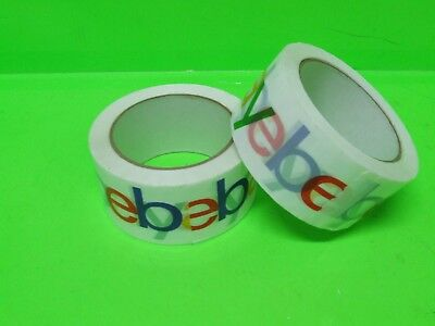 "2 pcs. Official eBay Branded Packaging Tape - 2"" x 75 yards Classic (2 Rolls)"