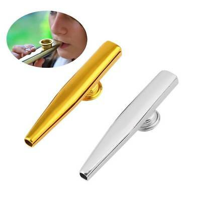 Musical Instrument Metal Kazoo Harmonica Diaphragm Mouth Flute Kids Gift Party