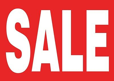 Red Sale Posters - Window Sign Banner - Waterproof Option!