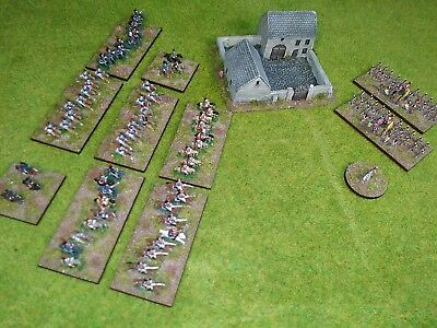 6mm Heroics & Ros Napoleonic French & British Army plus farm beautifully based!