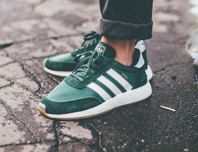 ADIDAS INIKI RUNNER I 5923 Boost Sport Style Shoes NIB Green by9726