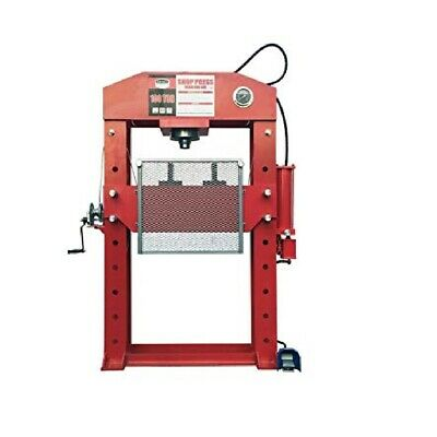 Shop Press 100 Ton Air Hydraulic Jack Bending with Sliding Head & Foot Pedal