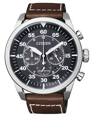 Citizen Herrenuhr CA4210-16E Chronograph ECO-DRIVE braun