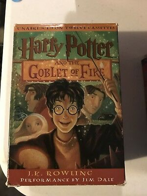 Harry Potter and the Goblet of Fire Unabridged Audiobook on Twelve Cassettes