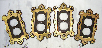 ***SOLD OUT***    Brass & Black Mid Century Hollywood Regency Switch Plate Cover