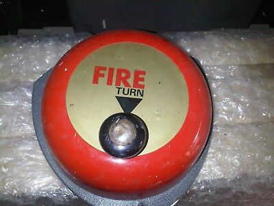 Taco Burnley INDUSTRIAL VINTAGE MANUAL FIRE ALARM BELL WORKING CONDITION