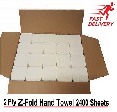 Luxury White 2 Ply C Fold Paper Hand Towels Multi fold Case of 2400
