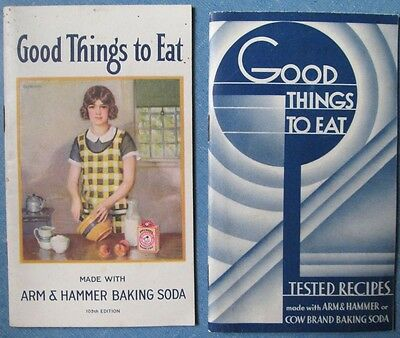 Vintage 1933/ 1936 Lot of 2 Good Things To Eat Recipe Booklets Arm & Hammer