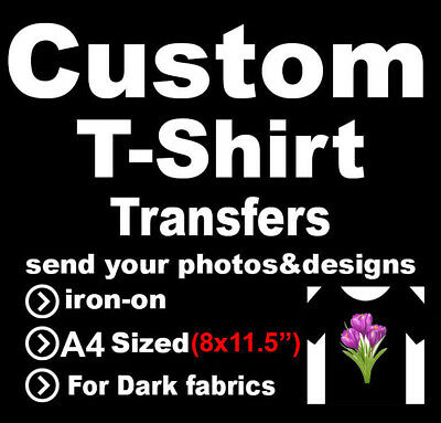 Custom A4 Sized T-Shirt Iron On Transfers Your photo/image/design Hen Stag
