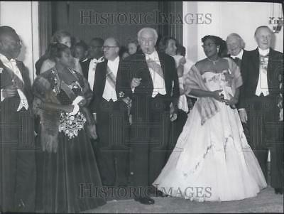 1956 Press Photo Federal President Prof. Heuss and Liberian William Tubman