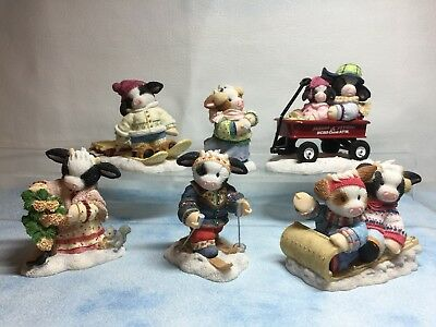 Complete Set Mary Moo Moos - Radio Flyer Heart Of Winter From 2003