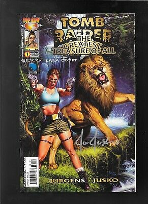 Joe Jusko signed Tomb Raider Greatest Tresure of All 1 Gem City Comic Con
