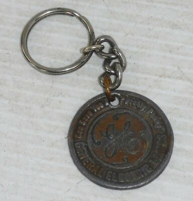 Vintage 1940s GE General Electric Lamps Lincoln Penny key chain fob