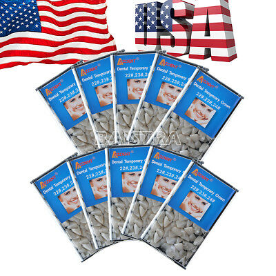 10 Packs USPS AZDENT Dental  Mixed Temporary Crown 22#,23#,24#