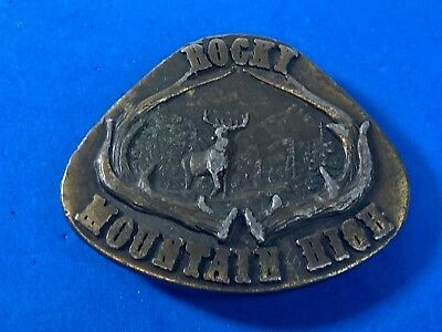 Vintage 1977. - INDIANA METAL CRAFT - RoCKY MOUNTIAN HIGH BELT BUCKLE