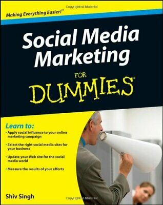 Social Media Marketing For Dummies by Singh, Shiv Paperback Book The Cheap Fast