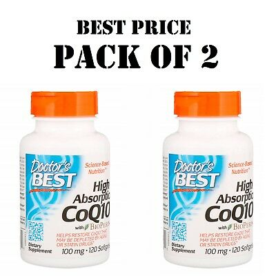 Doctor's Best High Absorption CoQ10 with BioPerine 100 mg 120 Softgels (PACK x2)