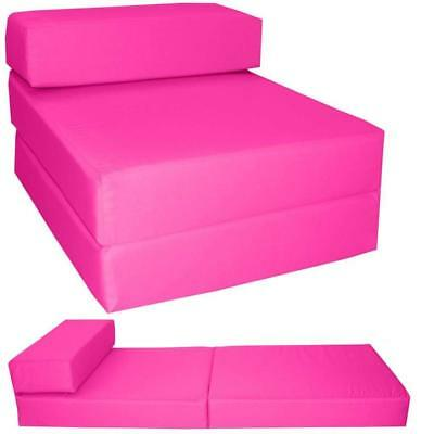 New ColourMatch Colour Match Single Bed Fabric Chairbed Chair Flip Out Pink
