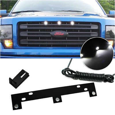 Grille Lights Raptor Style White LED with Mounting Bracket For 09-up Ford F150