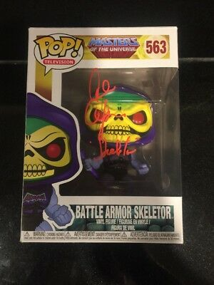 Alan Oppenheimer Signed Battle Armor Skeletor Funko Pop JSA COA
