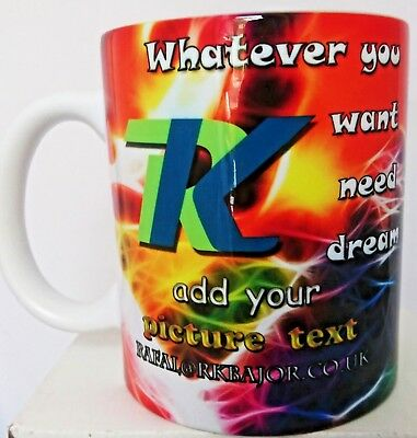 PERSONALISED TEXT PHOTO NAME MUG Christmas GIFT COFFEE CUP FIRST CLASS