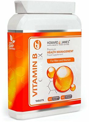 VITAMIN B COMPLEX (60 Tablets) Vegetarian & Vegan Friendly Tablets | Contains 10
