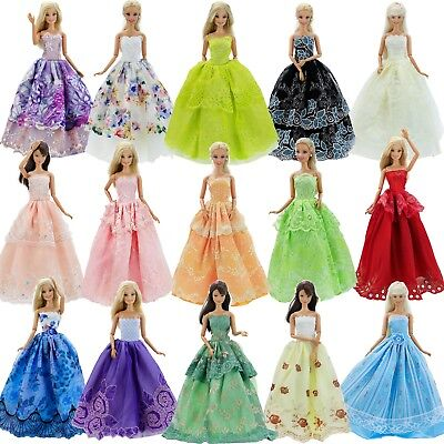 Random 5 Wedding Ball Dress Princess Party Gown Clothes For Barbie Doll Toy Gift