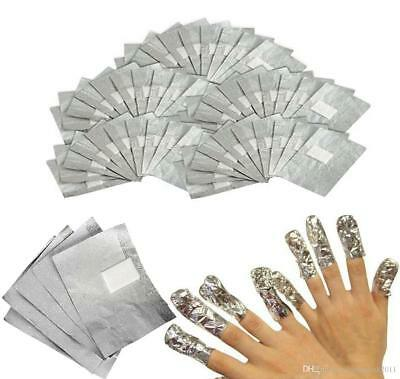 Nail Foil Wraps Soak Off For UV LED Gel Polish & Acrylic Removal 50 100 200 500