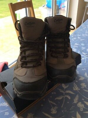 4d7c409312a MENS LADIES BROWN Cotton Traders Waterproof Hiking Walking Boots Size 5