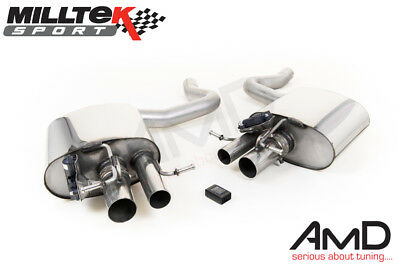 Milltek Mercedes C63 Rear Silencers Exhaust with Valve Control inc C63s SSXMZ120
