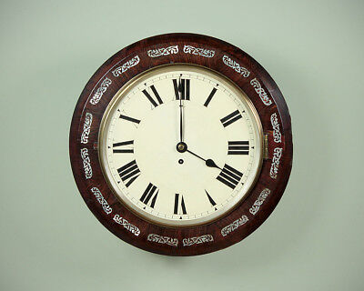 Antique 19th.c. Fusee Wall Clock c.1880