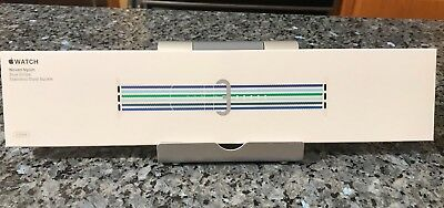 New SEALED Genuine Apple  Watch Band 42mm Blue Stripe Woven Nylon(Sold Out) NIB