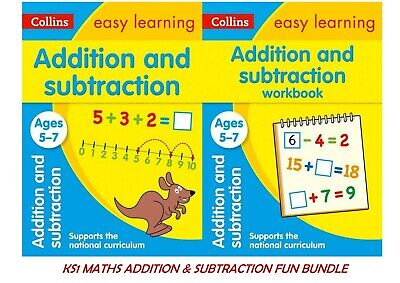 Ks1 Maths  Addition Subtraction Ages 5-7 Fun Learning Easy Graphical Way 3 Books