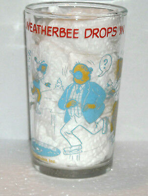 Welch's Archie Comics jelly glass~MR. WEATHERBEE DROPS IN~1973~BETTY on bottom