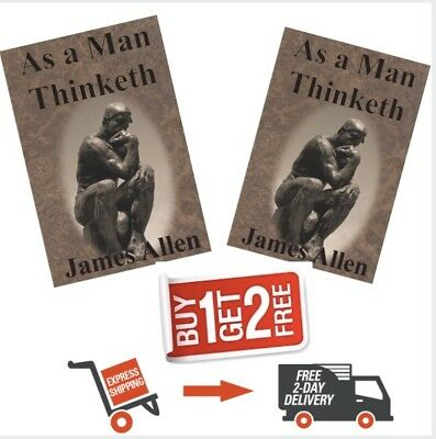 As A Man Thinketh Thought Consciousness Attraction   by James Allen. buy1 get 2f