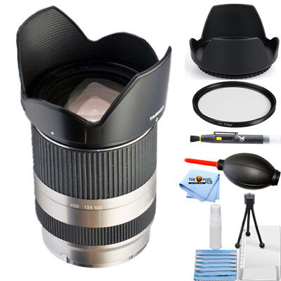 Tamron 18-200mm F/3.5-6.3 Di III VC Lens for Sony-E Mount (Silver) STARTER KIT
