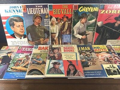 12 Comic SILVER-AGE Lot 1st Issue First Appearance 1950-1960 TV Kennedy Gold Key